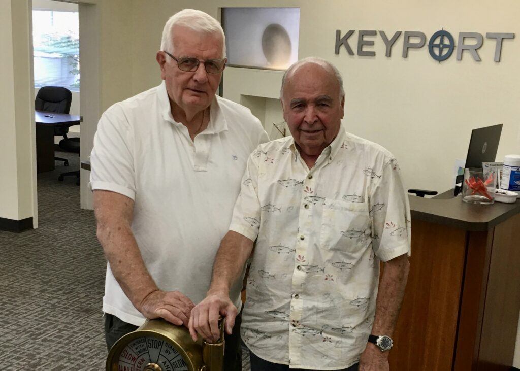 Darryl Pedersen and Jerry Tilley at Keyport LLC offices