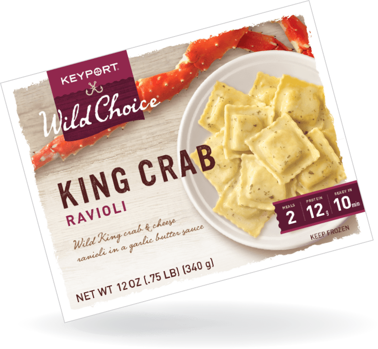 king crab ravioli package